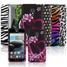 Color Hard Rubberized Snap On Phone Case Cover Accessory for LG Optimus F6 D500