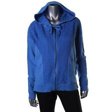 DKNY 1333 Womens Lace Overlay Zip Front Long Sleeves Hoodie Top Juniors BHFO