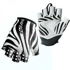 QEPAE Sports MTB Bike Bicycle Cycling Gloves Half Finger Gloves Zebra S/L/M/XL