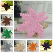 DIY Maple Iron On Sew Patch Applique Badge Embroidered Craft DIY EF
