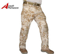 Tactical Military Camo BDU Pants Army Combat Trousers with Knee Pads Sandstorm