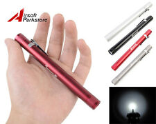 MXDL 3W LED 60 Lumens 3V 2xAAA Portable Flashlight Torch Lamp Penlight with Clip