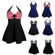 Women Sexy Plus Size Swimsuit Swimwear Bathing Suit Monokini Print Bikini R9C2