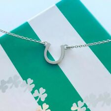 Tiny Posh™ Petite HORSESHOE Necklace 18kt Yellow Gold Vermeil & Sterling Silver
