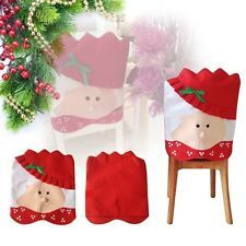 Christmas Chair Cover with Mrs Santa Claus for Dinner Decor SCA