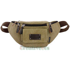 Unisex Canvas Travel Hiking Hip Bum Belt Waist Fanny Pack Sling Chest Bag Pouch