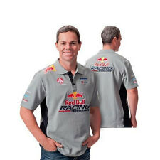 RED BULL RACING AUSTRALIA MENS TEAM POLO GREY NAVY LOWNDES SIZE S & M