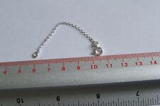 925 Silver Necklace necklet Belcher extender safety chain  Clasp 3 -7 Inches