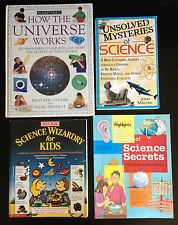 Homeschool Lot of 4 Science Books How the Universe Works & Science Experiments