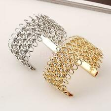 Retro Women Lots Style Gold/Silver Plated Wrap Bangle Punk Cuff Bracelet Jewelry