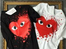 Men's Comme Des Garcons CDG Play Tee shirt Play Big Red Heart Women's Cotton Tee
