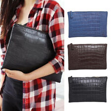 Women Crocodile PU Leather Party Evening Prom Envelope Clutch Bag Handbag Purse