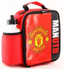Manchester United FC Vertical Lunch Bag/Box and 600ml Bottle Set   MUFC Lunchbox