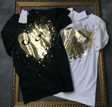 New Unisex Japan style Tee Shirt Play Comme Des Garcons bronzing Giant Heart Eye