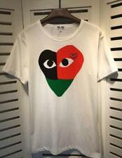 Unisex Japan style white Tee Shirt Play Comme Des Garcons Stuffing Big Heart