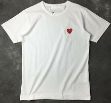 New Men's Comme Des Garcons CDG Play Littel Red Heart Cotton Women T-shirts Tops