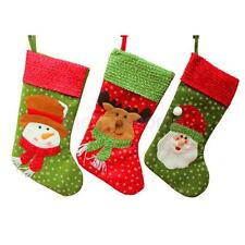 Merry Christmas Stocking Sock Hanging Gift Bag Xmas Eve Tree Decoration for Kids