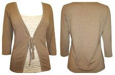 NEW LADIES MARKS & SPENCER PER UNA MOCK CARDIGAN TUNIC TOP SIZE 8 -14 BNWOT