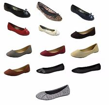 P26 Womens Classic Round Toe Easy On Easy Off Ballerina Ballet Flats Shoes