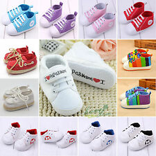 Newborn Infant Toddler Pram Sneaker Baby Boy Girl Soft Sole Crib Shoes Anti-slip