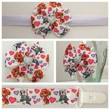 dummy clip pacifier baby girls paw patrol headband hair clip bow skye photo