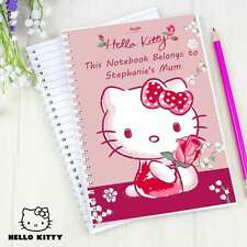 NEW PERSONALISED HELLO KITTY NOTEBOOK CHOOSE FROM 7 DESIGNS CHRISTMAS BIRTHDAY