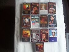 13~Country Western Cassettes:Marty Robbins~Pam Tillis~Merle Haggard~Many More