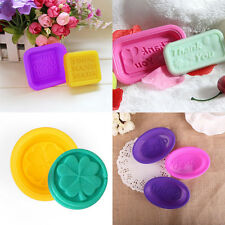 Soap Word Silicone Baking Mould Cake Chocolate Handmade Soap Candle Mold New