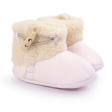 Cute Button Infant Keep Warm Round Toe Cotton Anti-skid Baby Girls Snow Booties
