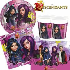 Disney Descendants Birthday Party Tableware Supplies Decorations Girls Boys
