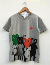Men's Women's T-shirts CDG Play Comme des Garcons Short Kids Love Red Heart Tee
