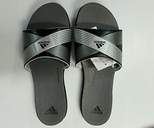 Women's Adidas Supercloud Plus Slide Sandal / Flip Flop Color Black/Silver/Gray