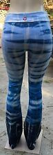 T Party blue & white tie dye yoga pants