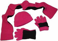 NICE CAPS Adults Mens Womens 3PC Warm Fleece Beanie Scarf Gloves Winter Snow Set