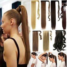 Mega Long Wrap Around Ponytail Deluxe Clip In Hair Extensions Straight Curly FB3