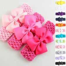 Baby Kids Girl Toddler Lace Bowknot Headband Hair Band Headwear Accessories