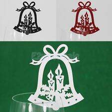 Christmas Wedding Cup Place Cards Label Tags Holder Table Glass Decoration