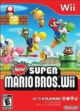 New Super Mario Bros. Wii (Nintendo Wii, 2009) With Box, Manual, Great Condition