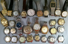 HUGE LOT OF 30 MENS WATCHES FOR PARTS