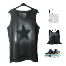 Rock Punk Shirt Top Emo Gothic Ripped Cut Out Hipster Grunge Swag Harajuku Faded