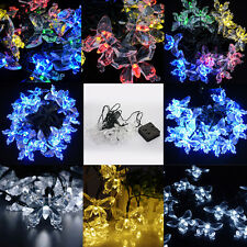 20 LED Outdoor Home Solar Powered Butterfly String Fairy Light Xmas Garden Decor