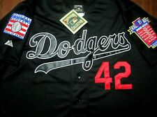 Brand New Cooperstown LA Dodgers #42 Jackie Robinson Dual BLACK Stitched Jersey