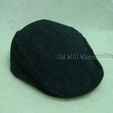 Dorfman Pacific IVY gatsby 1920s style gray wool blend cap with snap M-XL