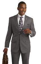 Modern Slim Fit Business 2 Piece Grey Mens Suit M18009 EJ Samuel Brand Men Suit