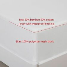 Bamboo/Cotton Mattress Hypoallergenic Waterproof Fitted Cover Protector All Size