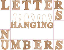 Mini Hanging Paper Mache Letters, Numbers & Symbols for Crafts