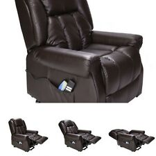 Armchair Massage Chair Leather Dual Motor Riser And Recliner Chair With Heat