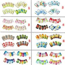 20SHEET (4 Patterns) Nail Art Stickers Nail Water Transfers Decals Flowers Grids
