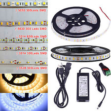 IP65 Waterproof 5M 5630 5050 3528 3014 SMD 300 600Leds Flexible Led Strip Light