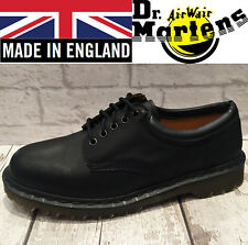 DR. MARTENS BLACK LEATHER RARE MADE IN ENGLAND PADDED COLLAR CLASSIC SHOES